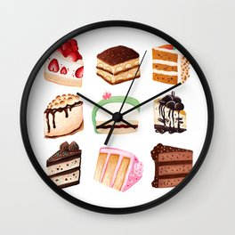 Yummy Cakes Wall Clock