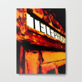 Peeling Telephone Box Metal Print
