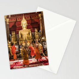 Monks at Work in the Temple III - Luang Prabang, Laos Stationery Cards