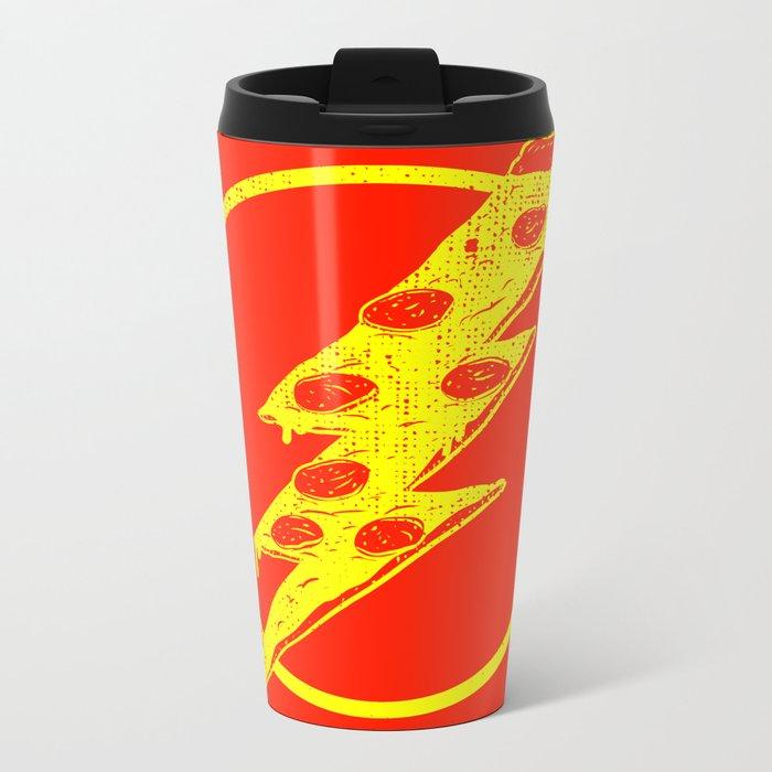 Quick Pizza Metal Travel Mug