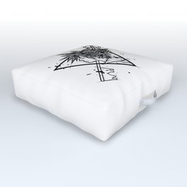Sora Handmade Drawing, Made in pencil and ink, Tattoo Sketch, Videogames Art Outdoor Floor Cushion