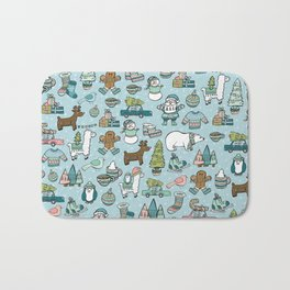 Whimsical Christmas, Sweater Weather, Fa La La La La, Holly Jolly, Holiday Print, Tis The Season Bath Mat