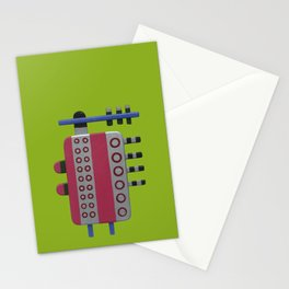 Indian woman with pink breasts Stationery Cards