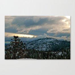 Peaking light Canvas Print