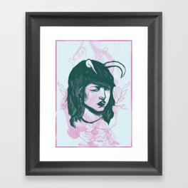 Jinxed Minx Framed Art Print