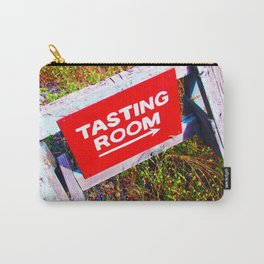 Tasting Room Sign At Ani Che Cellars Carry-All Pouch