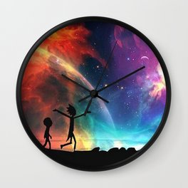 Rick And Morti Nebula Wall Clock