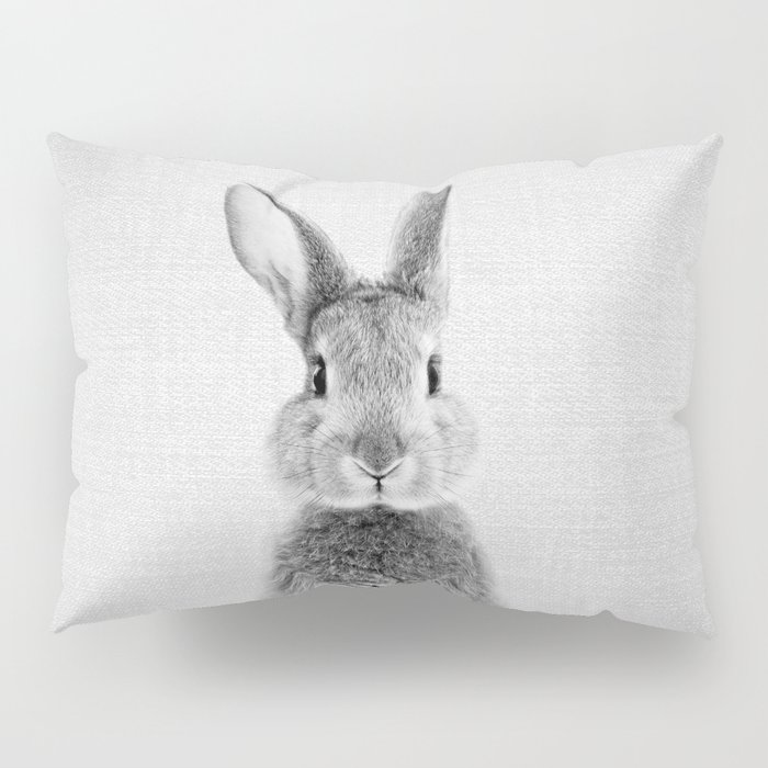 Rabbit - Black & White Pillow Sham
