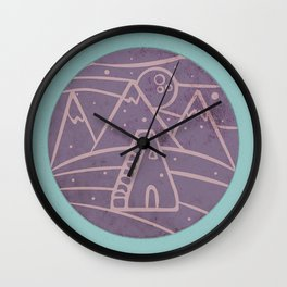 There Is Life On The Moon Wall Clock