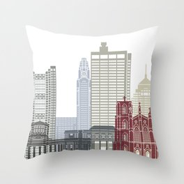 Columbus skyline poster  Throw Pillow