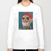 steve zissou Long Sleeve T-shirts featuring Steve Zissou  by Kristin Frenzel
