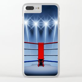 Boxing arena Clear iPhone Case