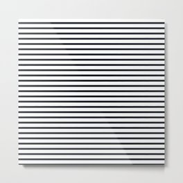 Sailor Stripes Black & White Metal Print