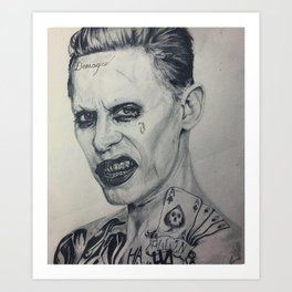 Jared Leto Joker Art Print
