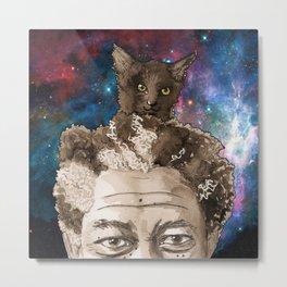 Kitty Head Space Metal Print