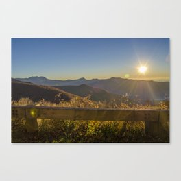 Sunrise on the Blue Ridge #2 Canvas Print