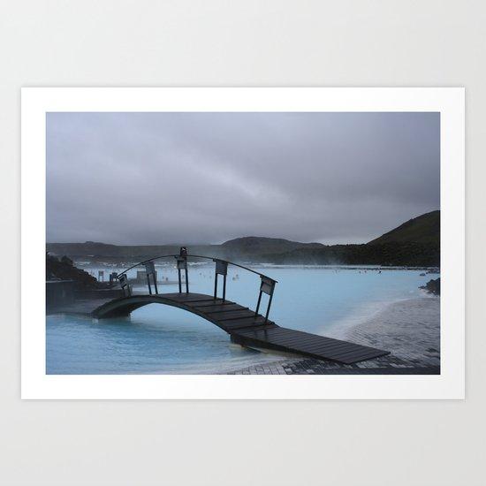 Iced Blue Art Print