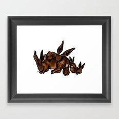 Sleeping Hare Family Framed Art Print