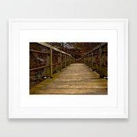 wooden Framed Art Prints featuring Wooden by David Konieczko