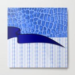 2in1 Pattern Serena blue Metal Print