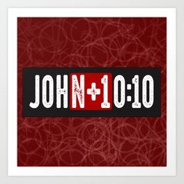 JohN+10:10 Art Print