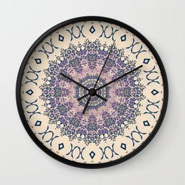 No. 20 Wisteria Arbor Way Regal Purple & Ivory Hugs and Kisses Mandala Wall Clock