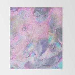 Soft Color Mermaid Style Throw Blanket