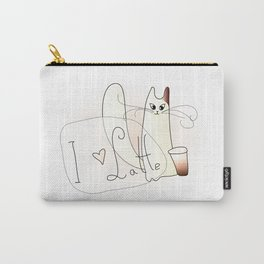Cat Heart Latte Carry-All Pouch