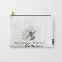 Nothing Great was ever achieved without Enthusiasm – RW Emerson Carry-All Pouch