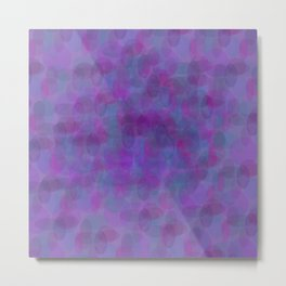 pattern bubbles on purple Metal Print