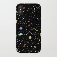 outer space iPhone & iPod Cases featuring OUTER SPACE by DRAWDEALER