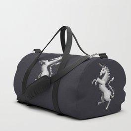 Pixel White Unicorn Duffle Bag