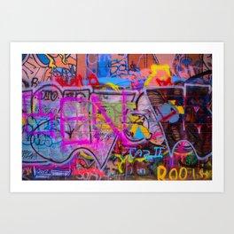 Bright Graffiti Art Print