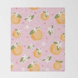 Orange Blossom Special Throw Blanket
