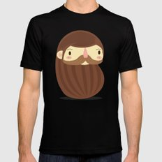 B is for Beard LARGE Black Mens Fitted Tee