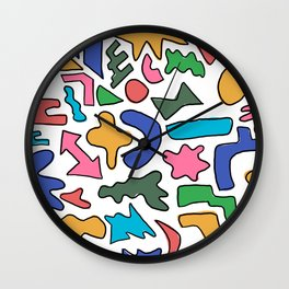 Colourful shapes Wall Clock