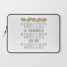 Funny Gnocchi Italian Pasta Foodie Gift For Chefs Laptop Sleeve