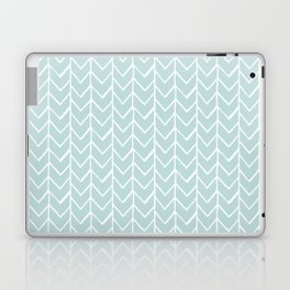 Herringbone Mint Laptop & iPad Skin