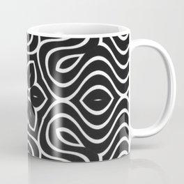 Dark Petal Waves Pattern Coffee Mug
