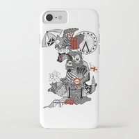 england iPhone & iPod Cases featuring England Doodle by Rebecca Bear