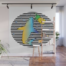 Pineapple Shark 1 Wall Mural
