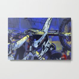 All Revved Up - Freestyle Motocross Rider Metal Print