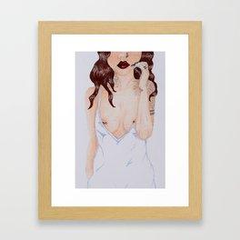Cherry Wine Framed Art Print