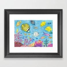 Crayon Fish #4 Framed Art Print