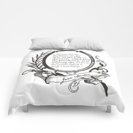 "Jane Austen ""In the Middle"" Comforters"