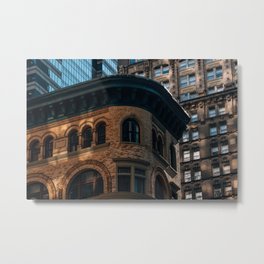 Close-up view of old and modern skyscrapers in Financial District Metal Print