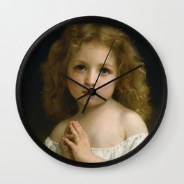 "William-Adolphe Bouguereau ""Little Girl"" Wall Clock"