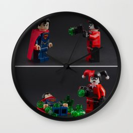 Anything can be a weapon Wall Clock