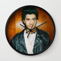 zayn malik Wall Clocks featuring Zayn Malik Punk Edit by Vinny's Edits