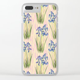 Bluebell Meadow Clear iPhone Case